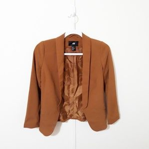 H&M boyfriend honey camel blazer